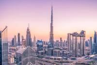 Vue du ciel de la ville de Dubaï