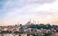 Photo du centre ville d'Istanbul avec la Cathédrale Sainte Sophie