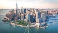 Photo panoramique de New York