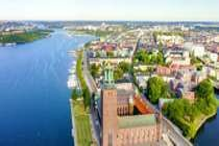 Vue panoramique du centre-ville de Stockholm