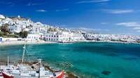 Photo d'un petit port sur une île grecque