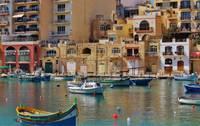Photo d'un petit port sur l'ile de Malte