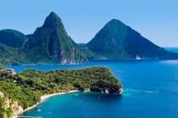 Vue panoramique des plages de l'île de la Martinique