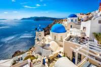Photo de l'ile de Santorin en Grèce