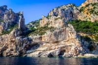 Vue des côtes de Sardaigne