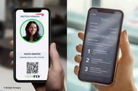 Photo d'un passeport de santé numérique avec British Airways